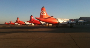 Wildfire tanker planes